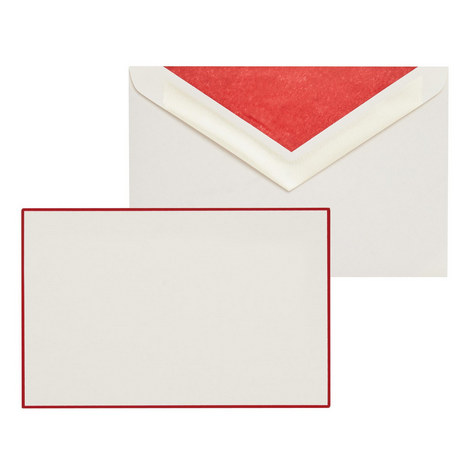Bordered Correspondence Cards, ${color}