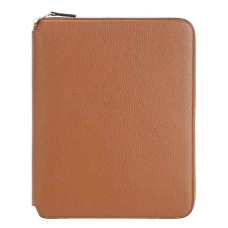 Burlington A5 Zipped Leather Folder, ${color}