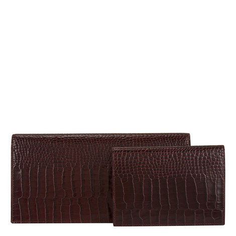 Slim Croc Travel Wallet, ${color}
