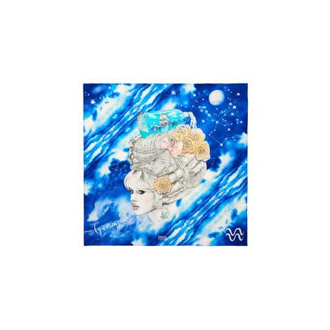 Silk Zodiac Scarf Aquarius, ${color}