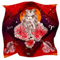 Silk Zodiac Scarf Aries, ${color}