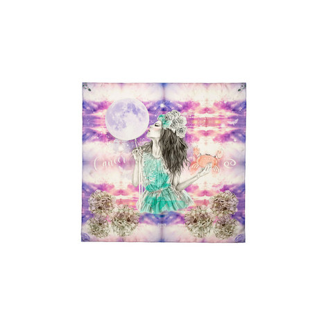Silk Zodiac Scarf Cancer, ${color}