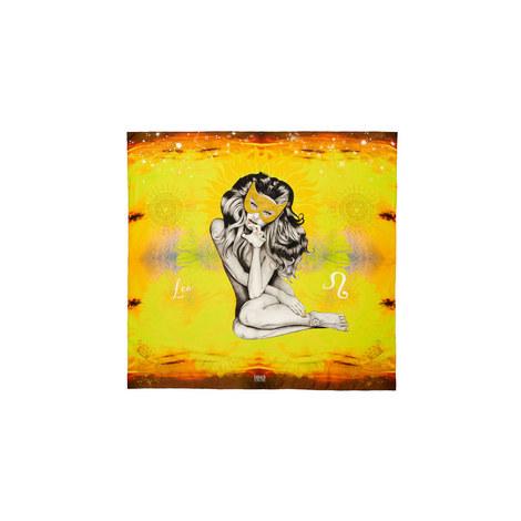 Silk Zodiac Scarf Leo, ${color}