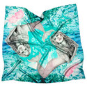 Silk Zodiac Scarf Pisces, ${color}