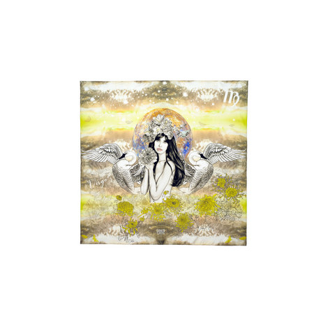 Silk Zodiac Scarf Virgo, ${color}