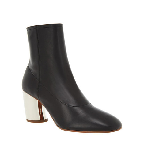 Metallic Heel Ankle Boots, ${color}