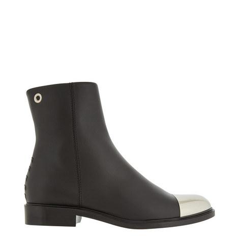 Toe Cap Flat Boots, ${color}