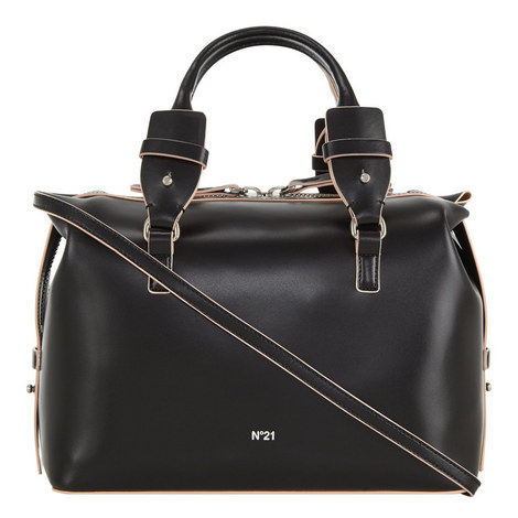Leather Bowling Bag Large, ${color}