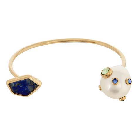 Crystal and Pearl Cuff Bracelet, ${color}