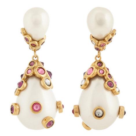 Pasha Pearl Drop Earrings, ${color}