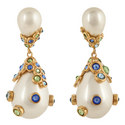 Pasha Pearl Drop Earrings, ${color}