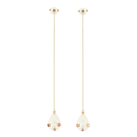 Pasha Long Pearl Drop Earrings, ${color}