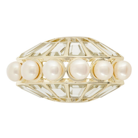 Mirror & Pearl Mohawk Ring, ${color}