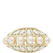 Mirror & Pearl Mohawk Ring