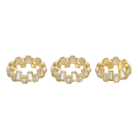 Baguette Mirror Ring Set, ${color}