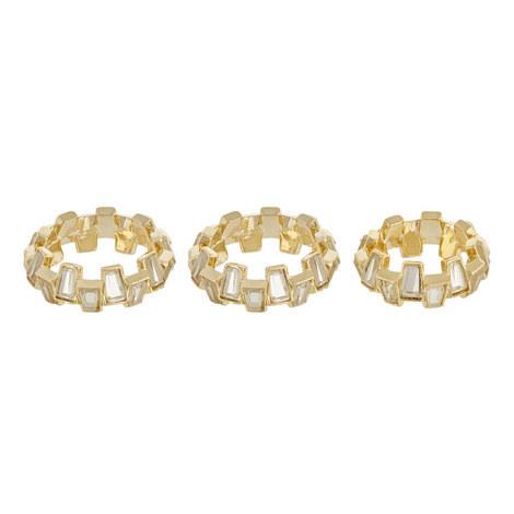 Baguette Mirror Ring Set, ${color}