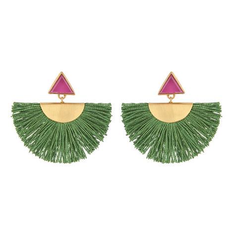 Mini Fan Earrings, ${color}