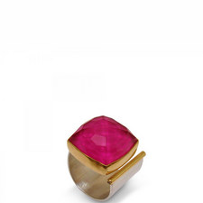 Square Ruby Open Ring