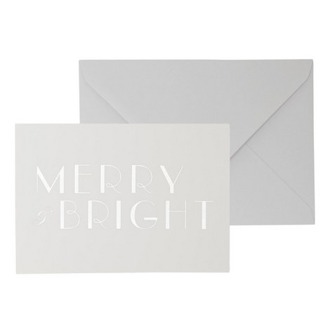 Merry and Bright Christmas Cards, ${color}