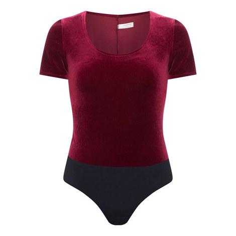 Velvet T-Shirt Bodysuit, ${color}