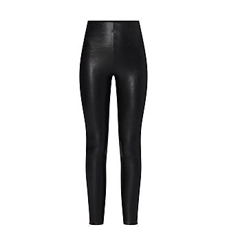 Faux Leather Zip Leggings