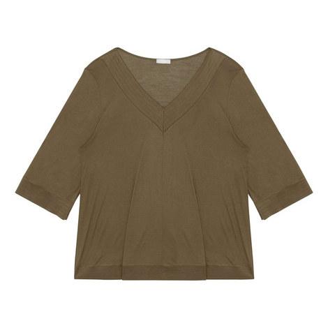 Hella Cropped Sleeve Pyjama Top, ${color}