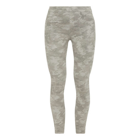 Camouflage Jean-ish Ankle Leggings, ${color}