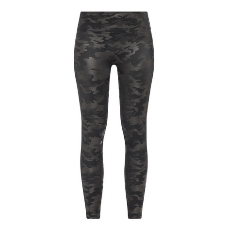 Faux Leather Camouflage Leggings, ${color}