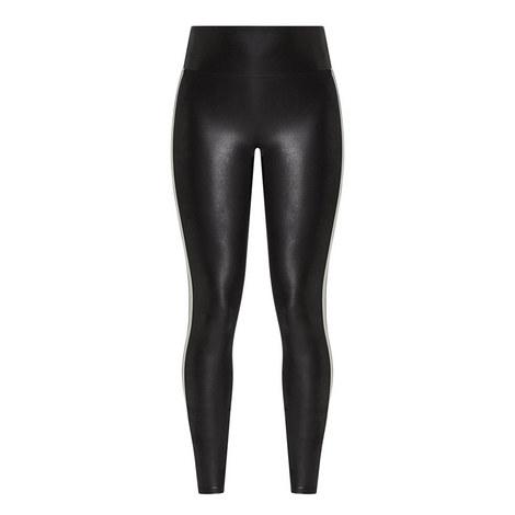 Faux Leather Stripe Leggings, ${color}
