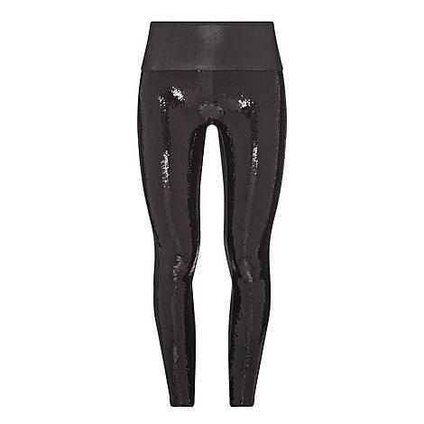 Faux Leather Sequin Leggings, ${color}
