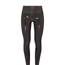 Faux Leather Sequin Leggings