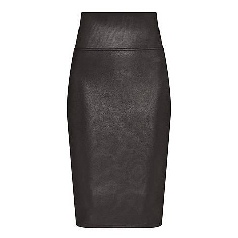 Faux Leather Pencil Skirt, ${color}