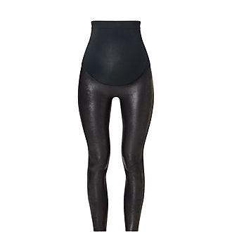 Mama Faux Leather Leggings