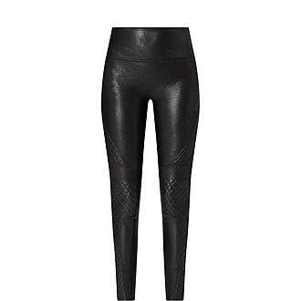 Faux Leather Quilted Leggings