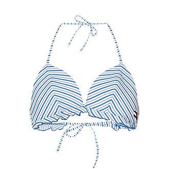 Seersucker Stripe Bikini Top