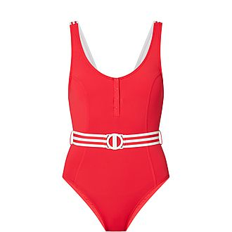 Belted Tank Swimsuit