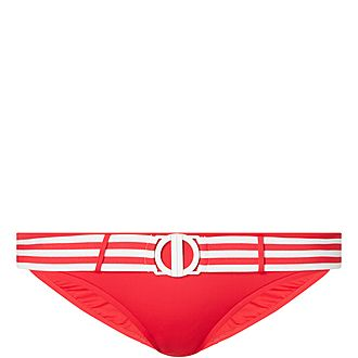 Belted Hipster Bikini Bottoms