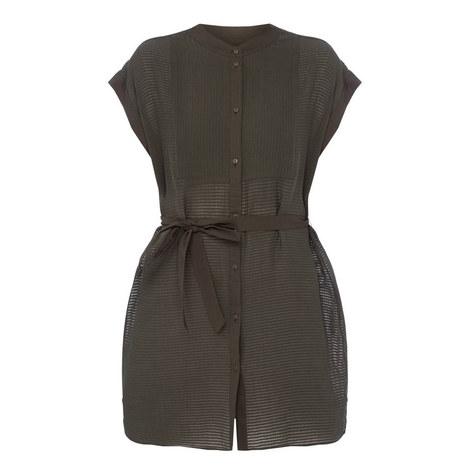 Parallel Shirt Dress, ${color}