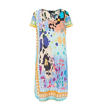 Abstract Leopard Print Kaftan