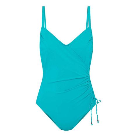 Drape Warp Swimsuit, ${color}