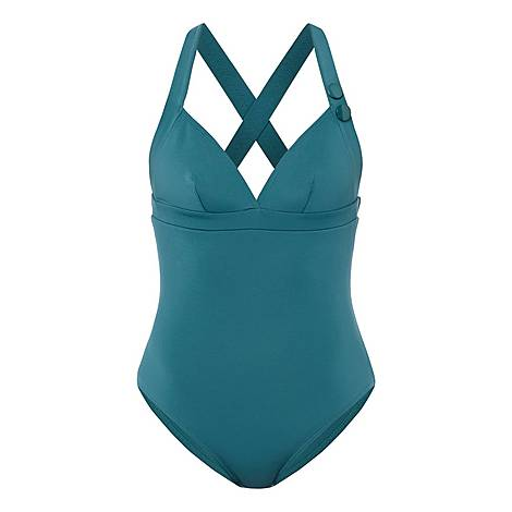 Elea Crossed Strap Swimsuit, ${color}