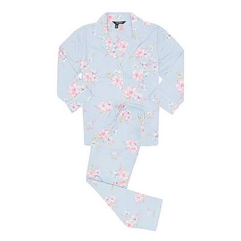 Sateen Gingham Pyjamas, ${color}