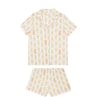 Golden Pineapple Pyjama Set