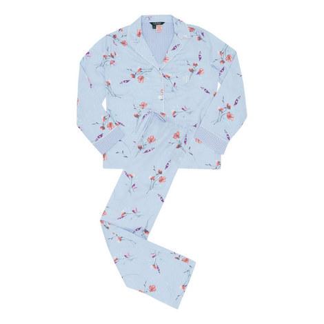 Floral Classic Woven Pyjama Set, ${color}