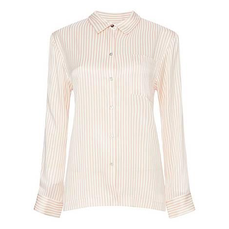 Dense Stripe Pyjama Top, ${color}