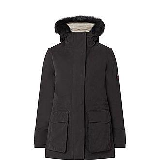 Metallic Boxy Jacket Lined Coat
