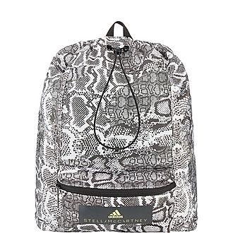 Snakeskin Print Backpack