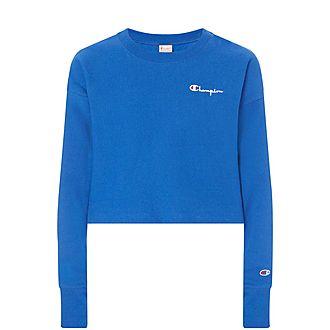 Reverse Weave Cropped Sweatshirt