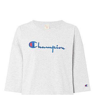 Script Cropped T-Shirt