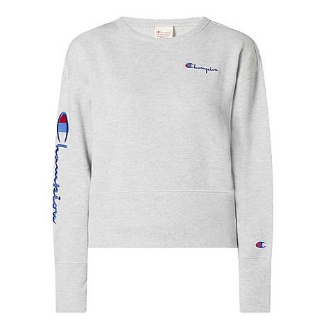 Script Logo Sweatshirt, ${color}